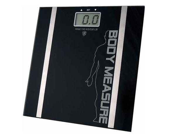 משקל אדם דיגיטלי עם צג LCD המציג משקל, אחוזי שומן, , large image number null
