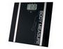 משקל אדם דיגיטלי עם צג LCD המציג משקל, אחוזי שומן