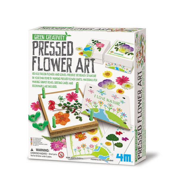 """אומנות ייבוש פרחים - ערכת יצירה לבנות מסדרת Green Creativity דגם Pressed Flower Art מבית 4M ארה""""ב, , large image number null"""