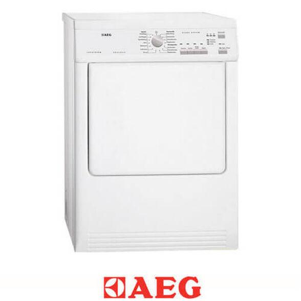 """מייבש כביסה AEG פתח חזית 7 ק""""ג עם חיישני לחות 2600 וואט בצבע לבן דגם T65170AV  , , large image number null"""