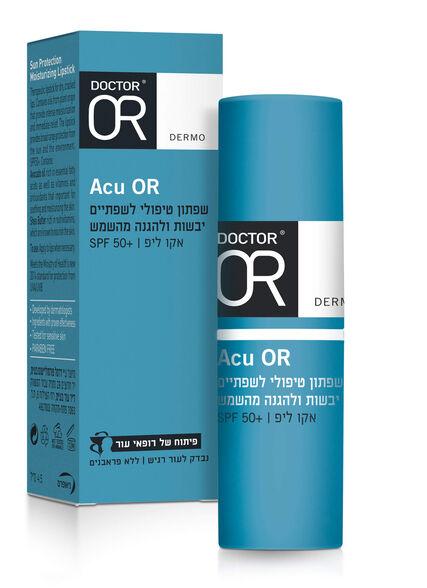 ACU OR שפתון לשפתיים יבשות | הגנה משמש SPF50, , large image number null